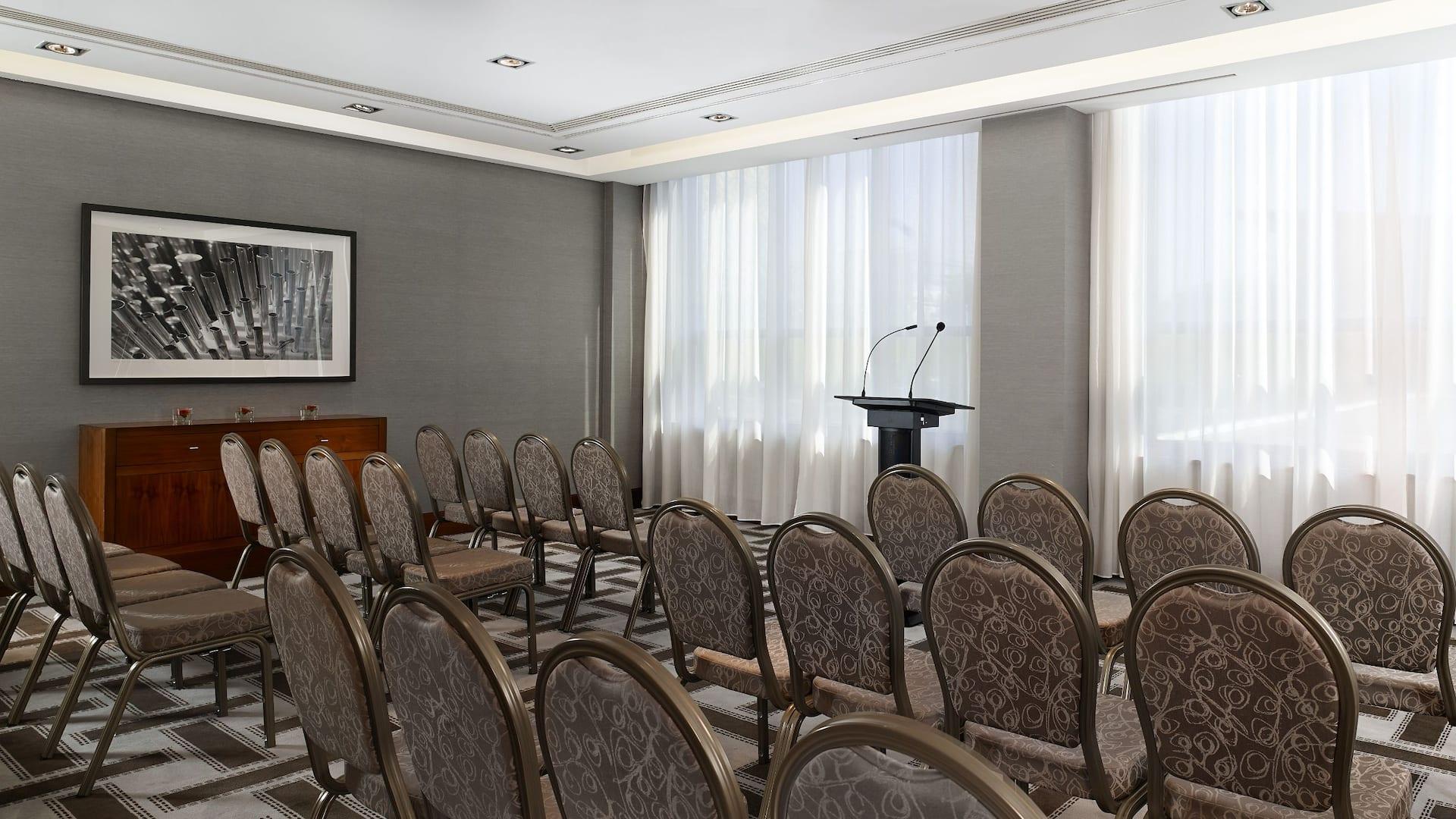 Meeting room setup at Hyatt Regency Birmingham