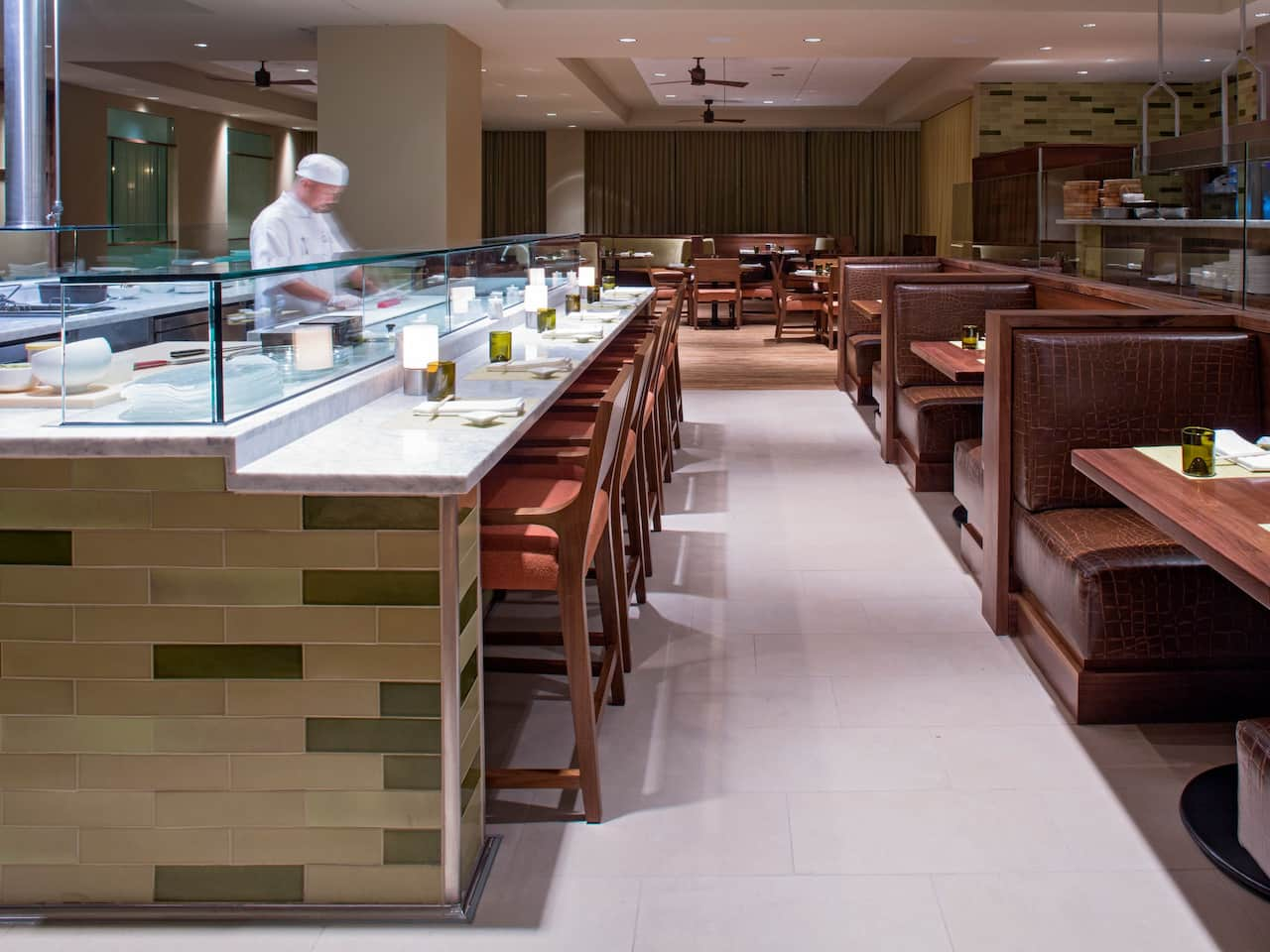 Sushi bar at McCoy's Bar and Grill near the Orlando Airport