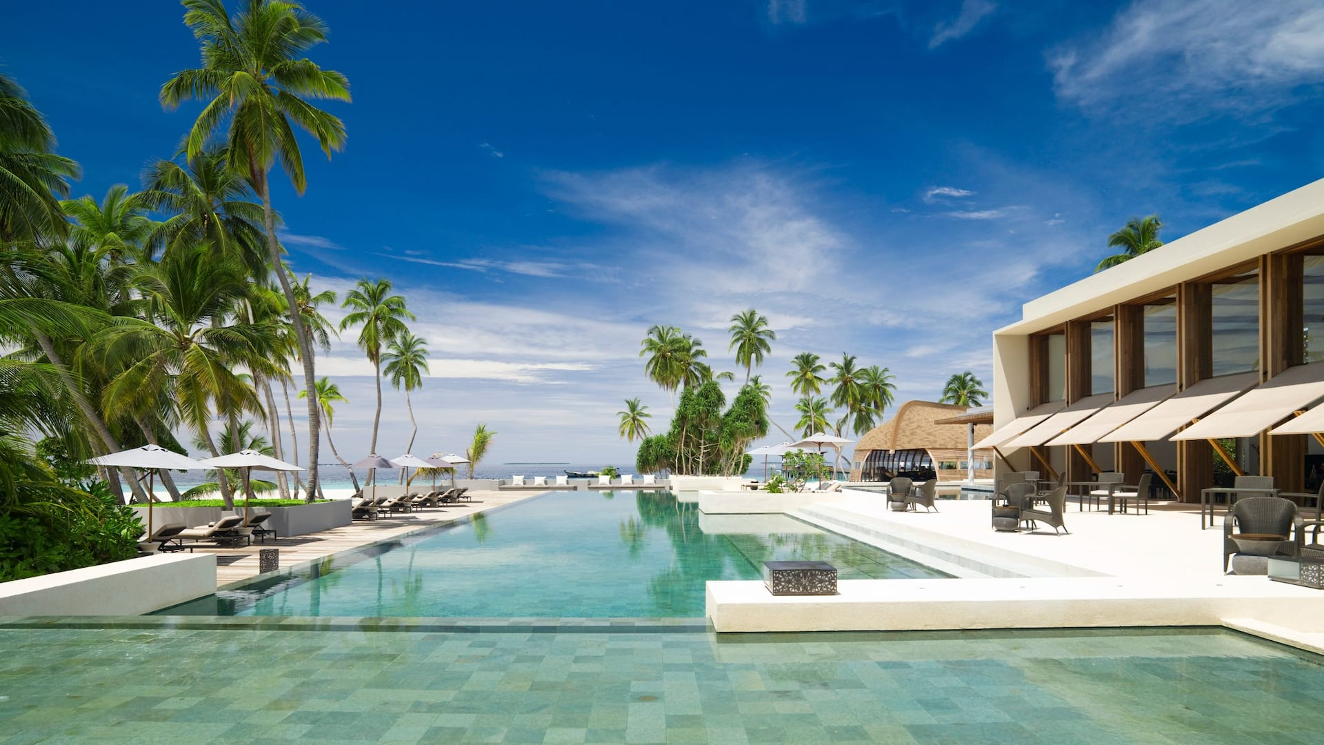 Luxury Maldives resort pool