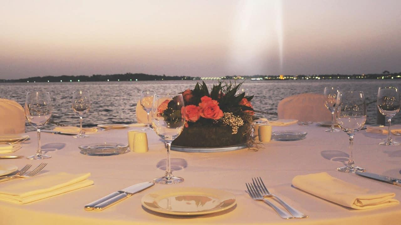 Park Hyatt Jeddah Palm Courtyard Table