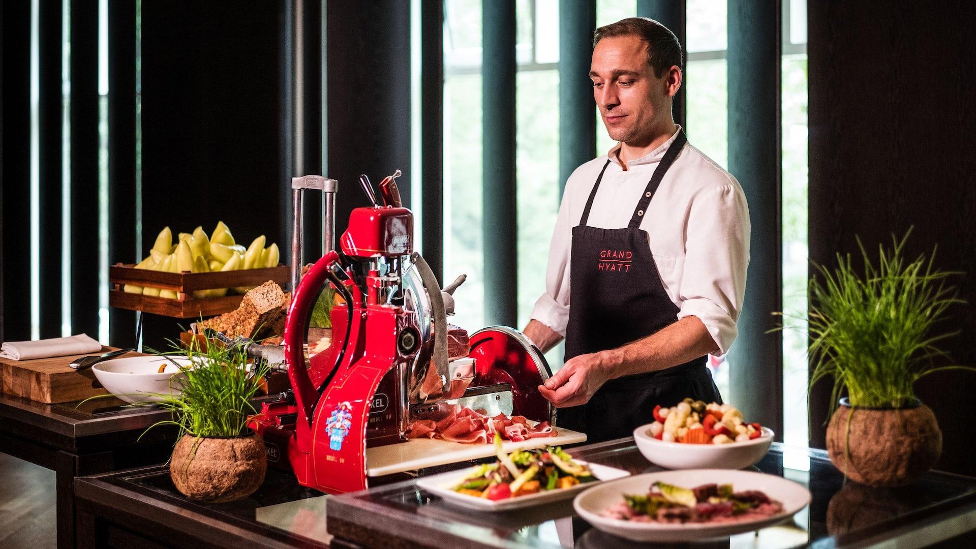 Personal catering service at Grand Hyatt Berlin