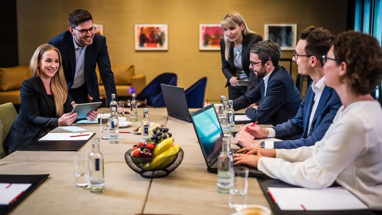 team workshop and networking at Grand Hyatt Berlin