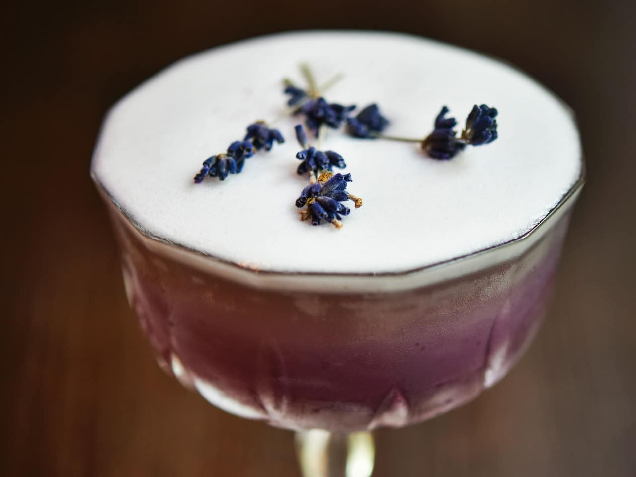 Lavender Fields Cocktail at The Montagu Kitchen restaurant in Marylebone