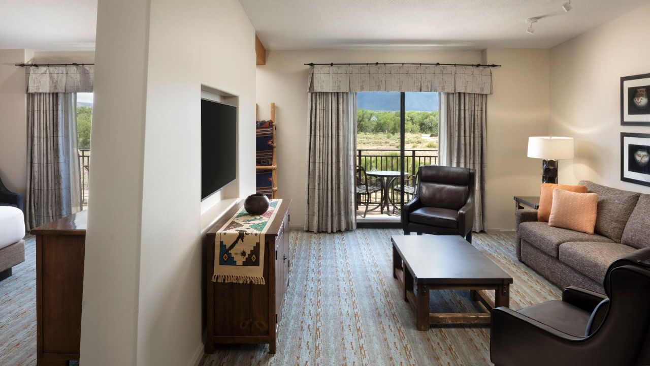 Hyatt Regency Tamaya Resort Executive Suite Living Space