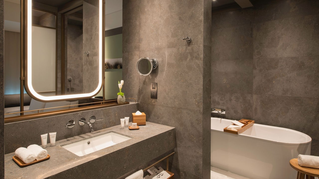 Premier Bathroom with Organic toiletries