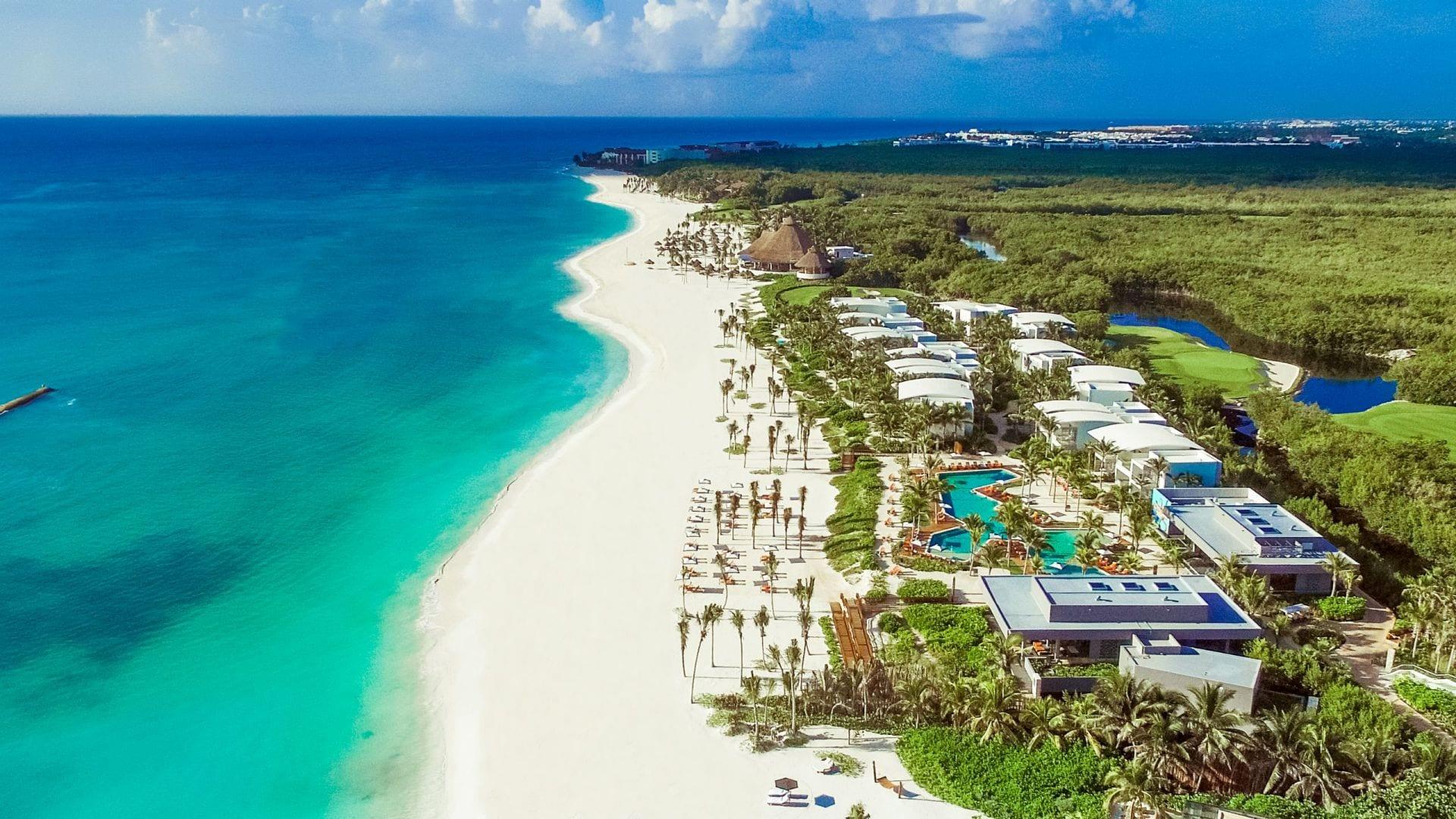 Andaz Mayakoba Resort Riviera Maya aerial