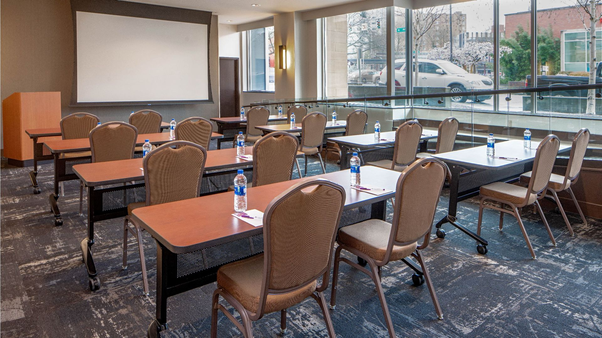 Hyatt Place Meeting Table Set-up Seattle Downtown hotel