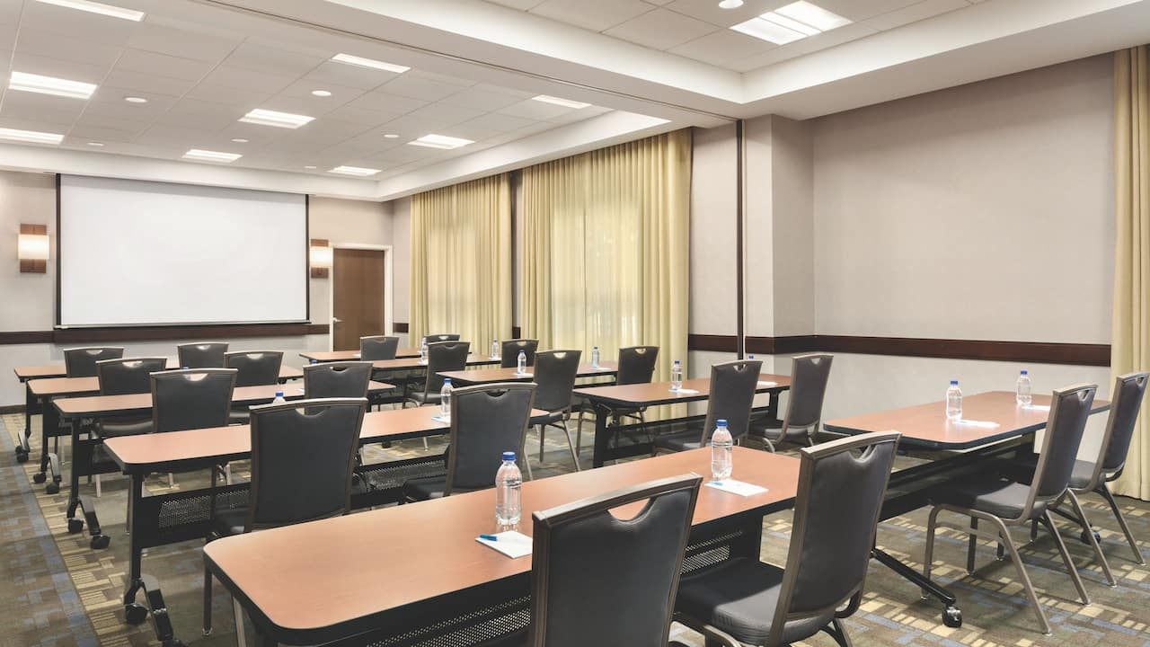 Flexible meeting space for up to 115 guests.