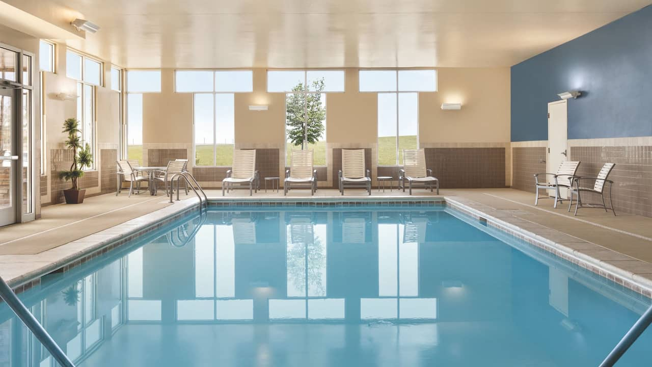 Don't forget your swimsuit for our indoor heated pool and hot tub.