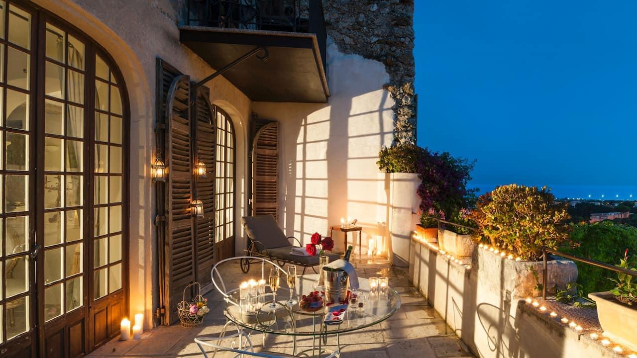 Terrace Prestige Suite by night
