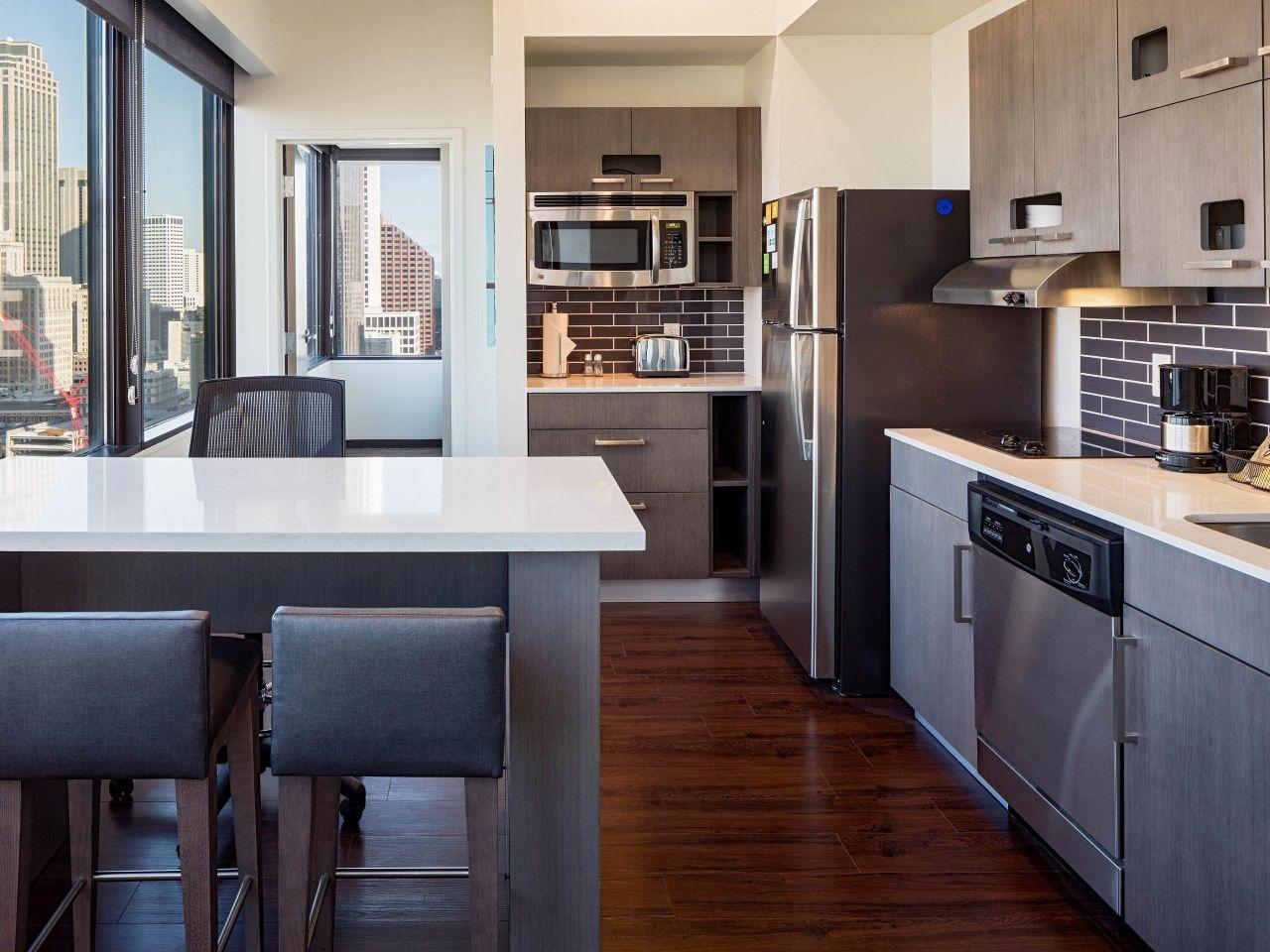 Hyatt House kitchen