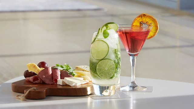 Grand Hyatt Incheon Charcuterie Board and Cocktails
