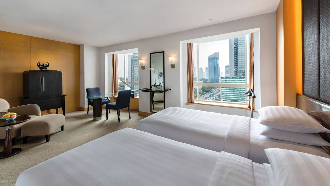 Rooms 2 Twin Beds with Club Access The Grand Hyatt Hotel, Jakarta