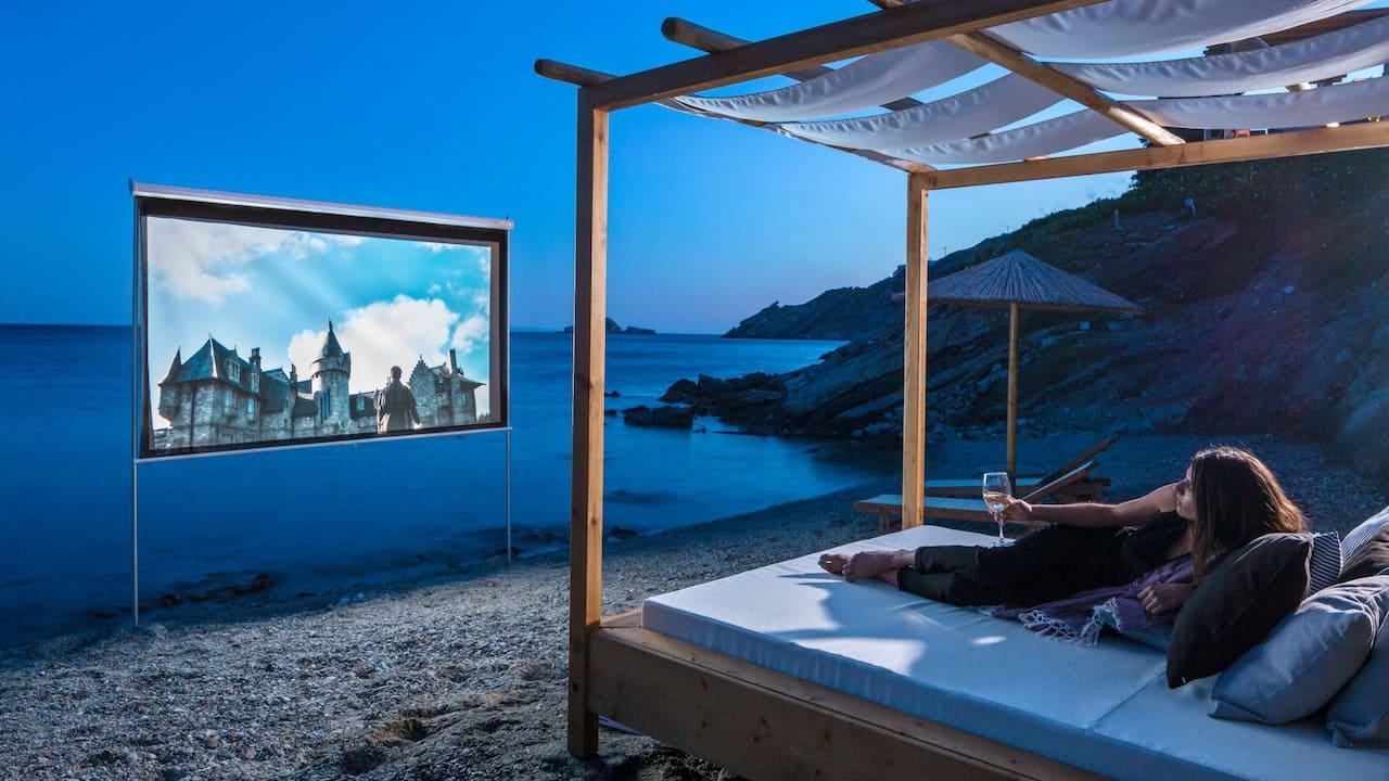 Private Beach Cinema
