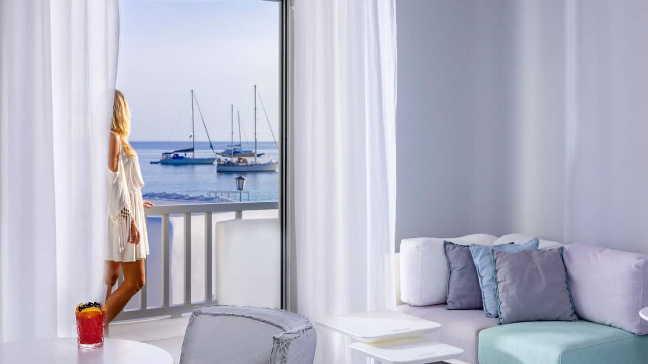 Ammos Mykonos double room with sea view