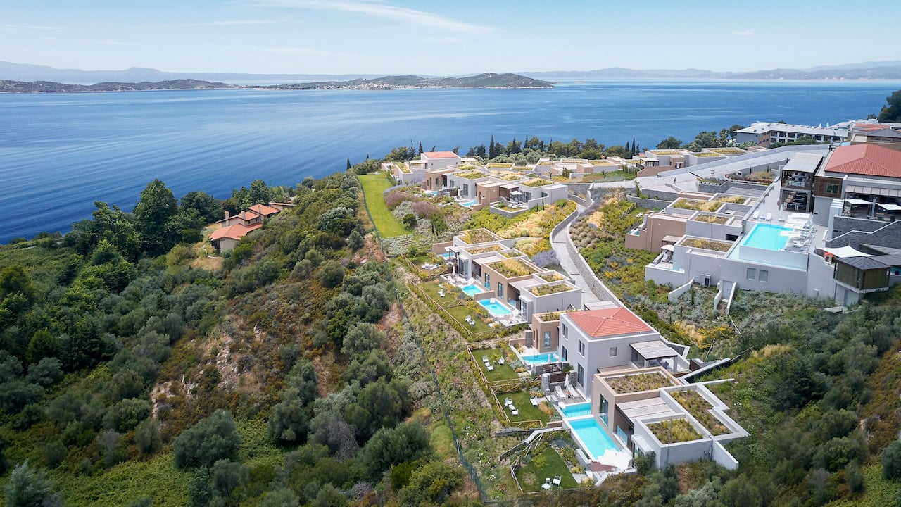 Aerial view of Eagles Villas