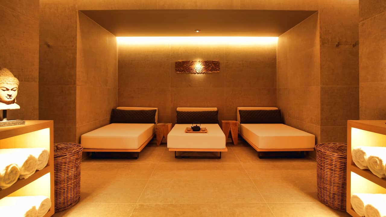 The Margi spa emits a weloming glow