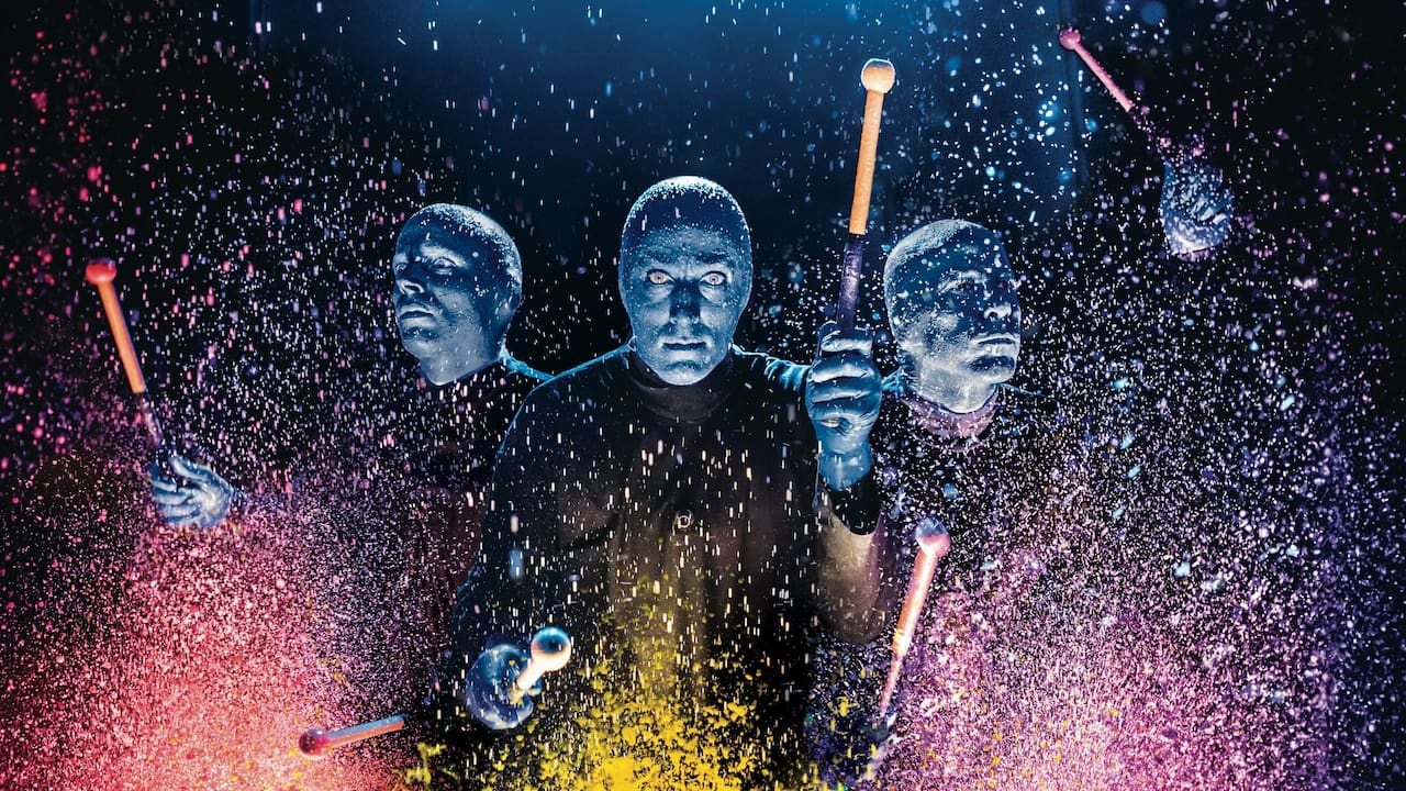 The Blue Man Group - a memorable music event near Grand Hyatt Berlin