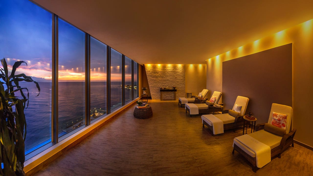 Aqoral Spa Relaxation Room Sunset