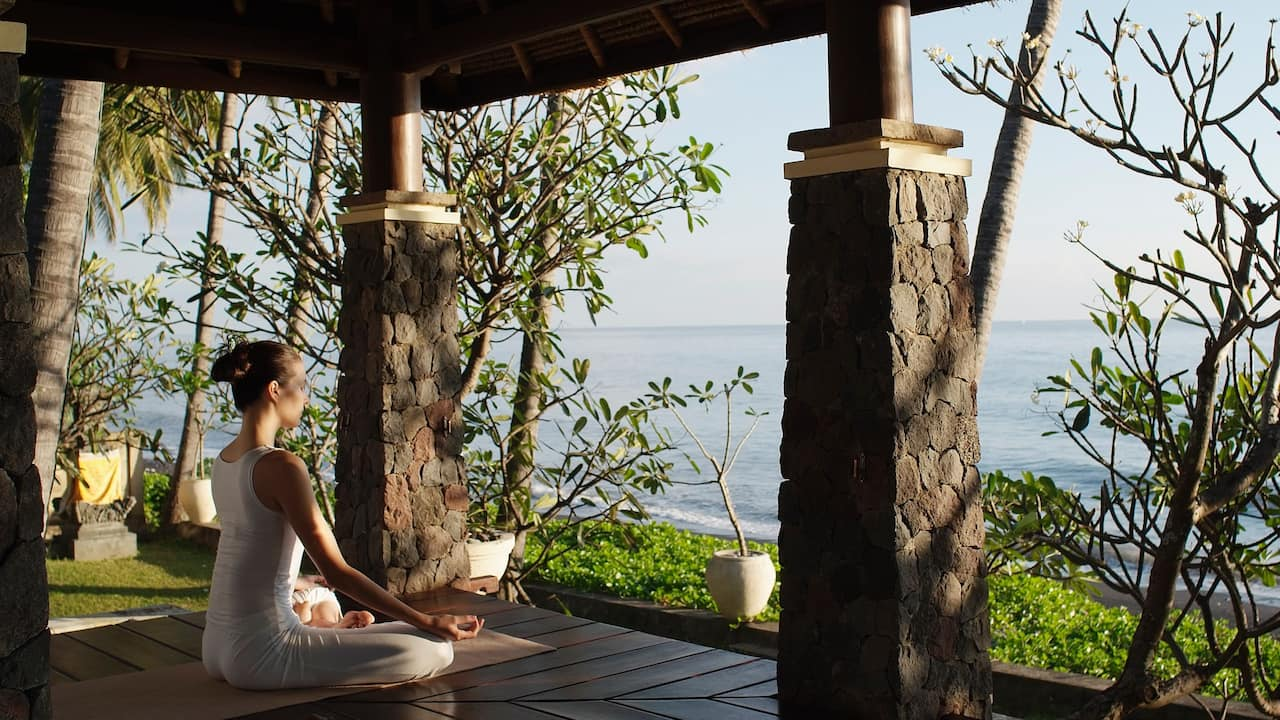 Meditation overlooking the ocean
