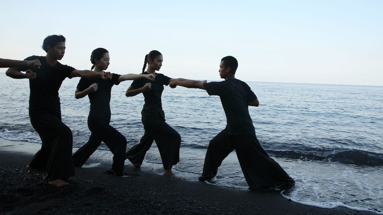 Silat on the beach