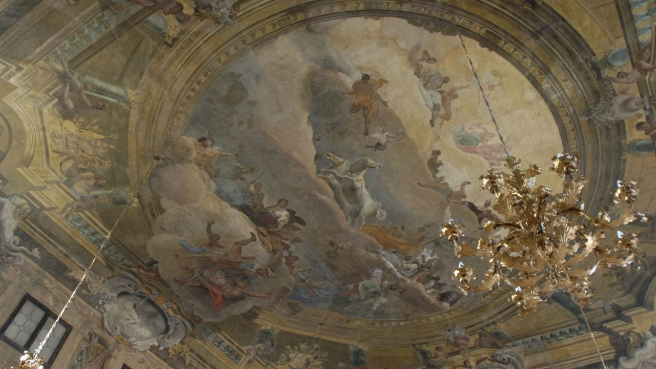 Ceiling Painting in the Ballroom