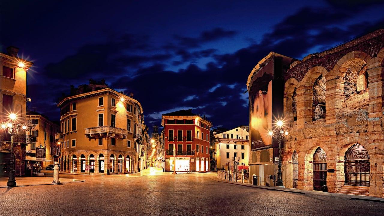 Via Mazzini and Verona Arena