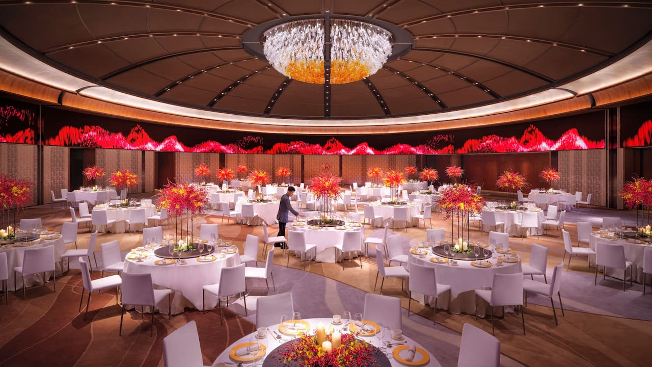 Grand Ballroom Wedding Setup