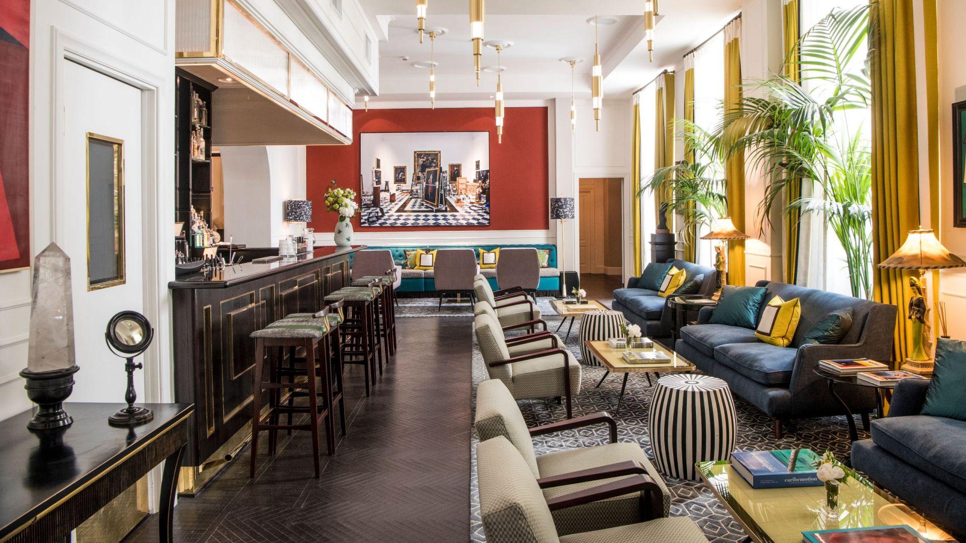 The lobby and bar
