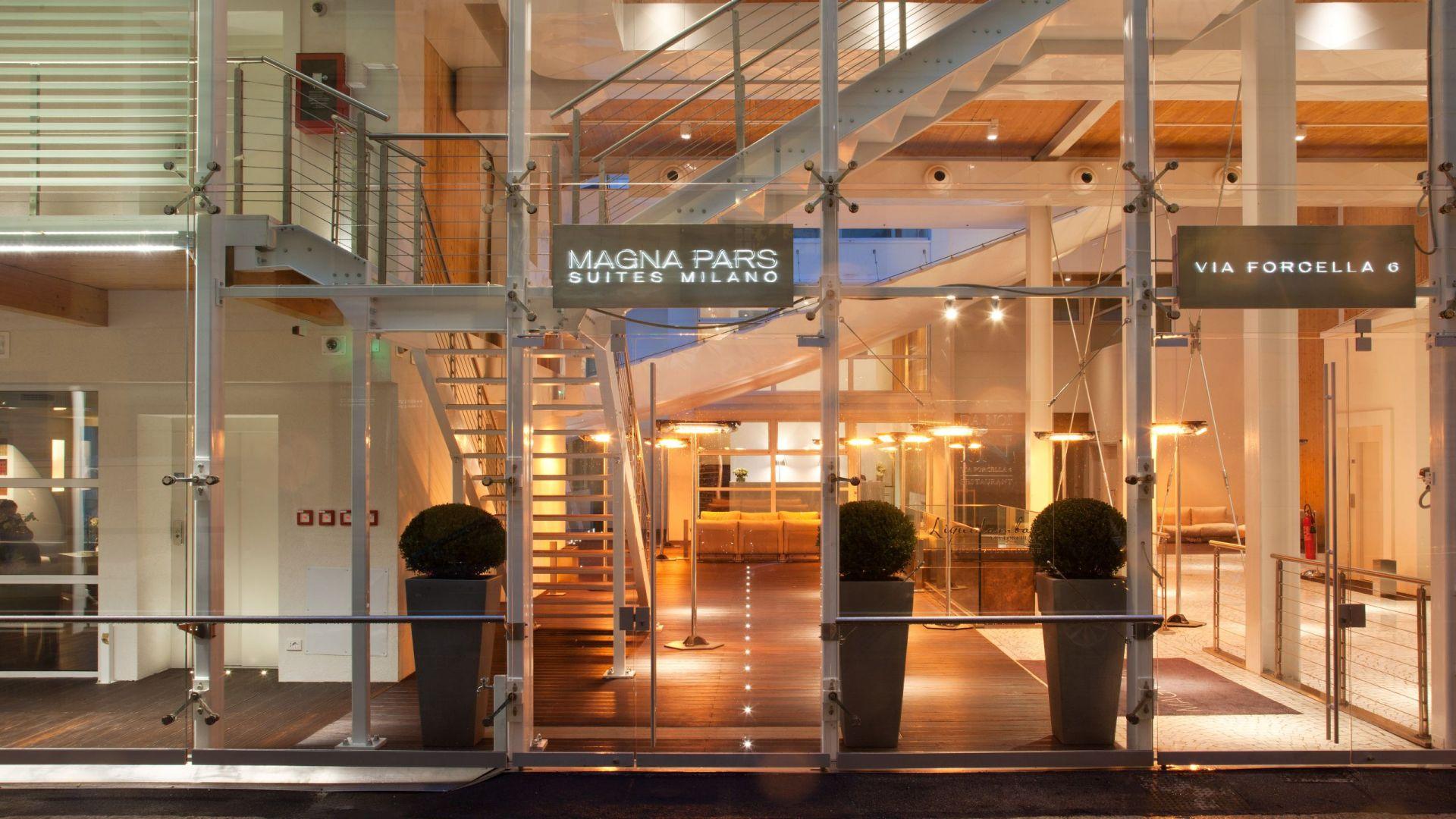 Hotel Magna Pars Suites Milano entrance