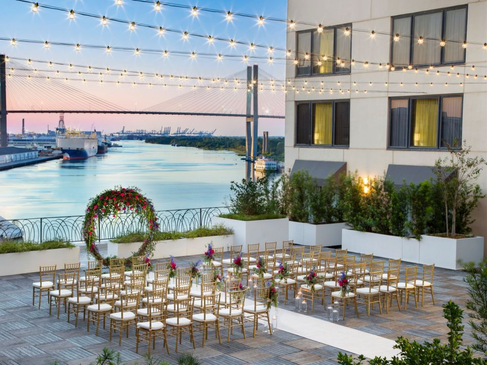 Outdoor Terrace Wedding