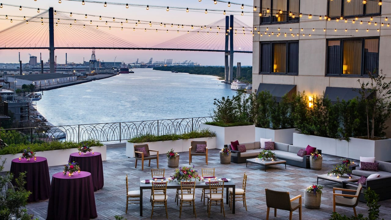 Outdoor Terrace at Hyatt Regency Savannah