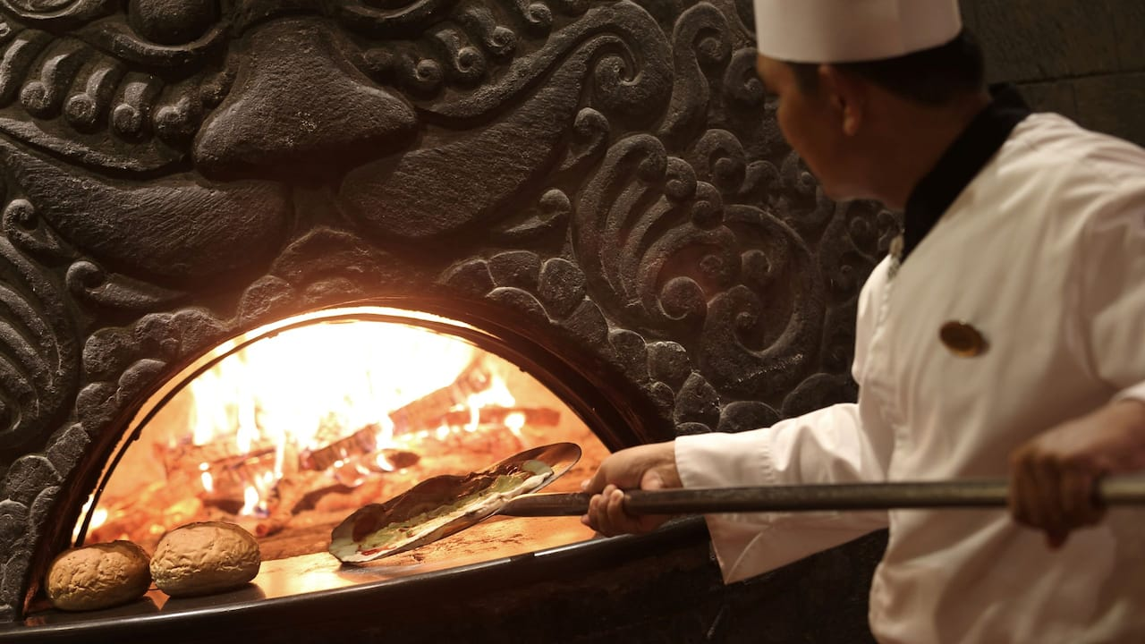 A Wood-burning Pizza Oven at Hyatt Regency Yogyakarta