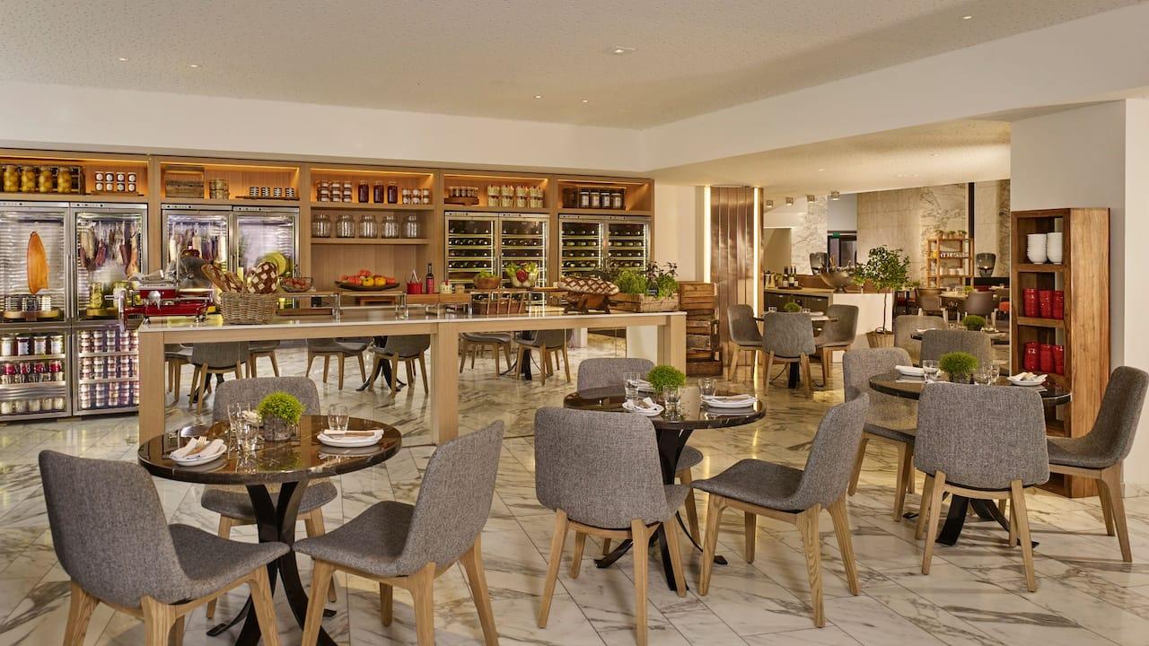 Coquillettes jambon-truffe par le Chef au restaurant Mayo de l'Hôtel Hyatt Regency Paris Étoile