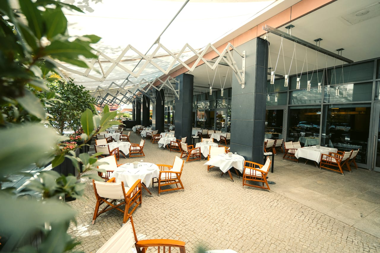 Vox restaurant summer terrace at Grand Hyatt Berlin