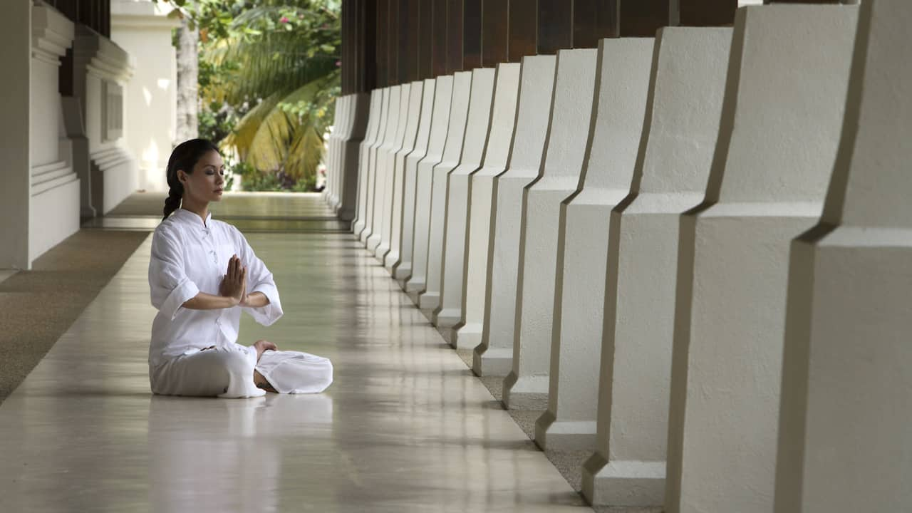 Tanjong Jara resort yoga and meditation near nature