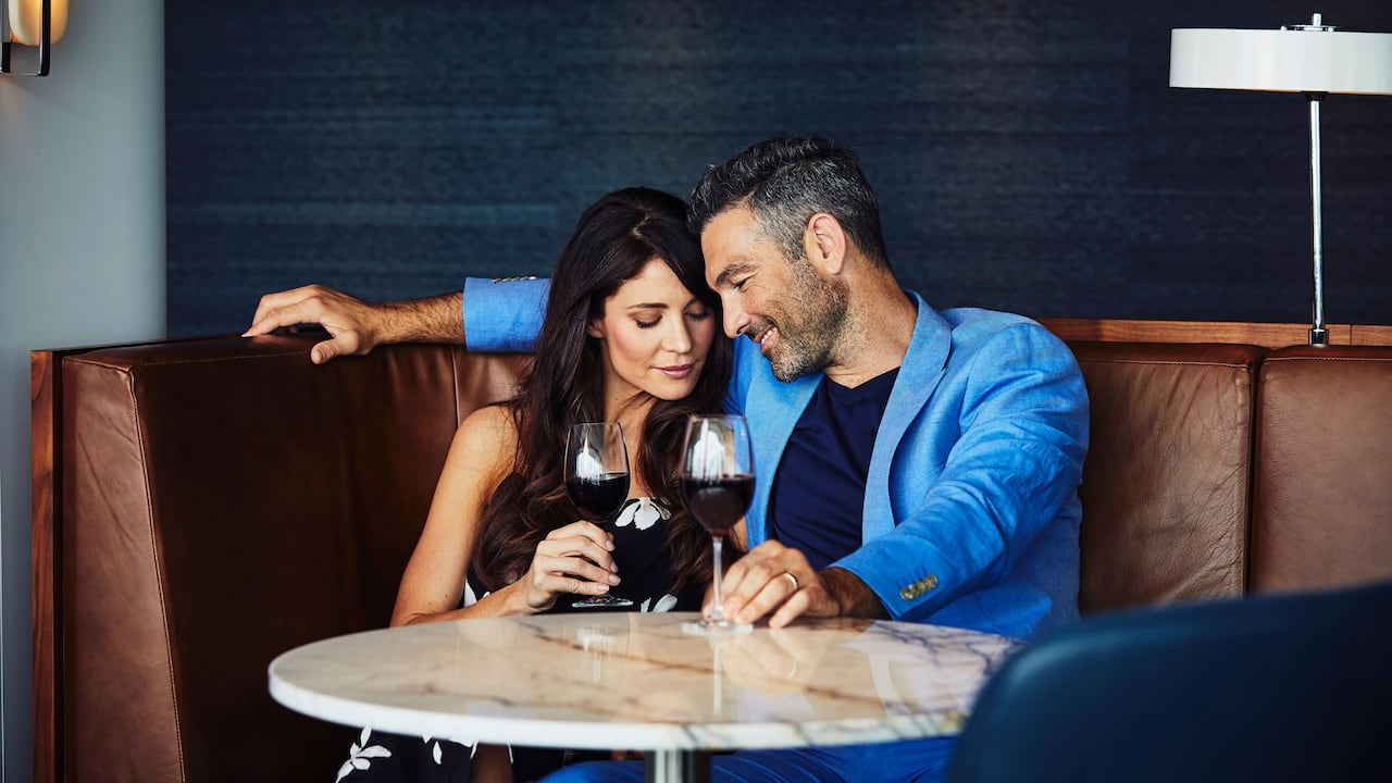 Lounge Couple and Wine
