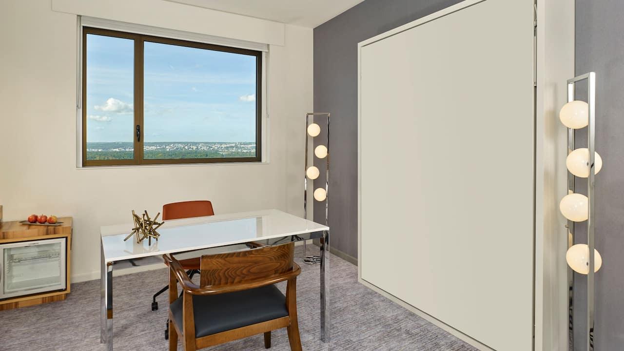 Regency Suite Living Room with murphy bed