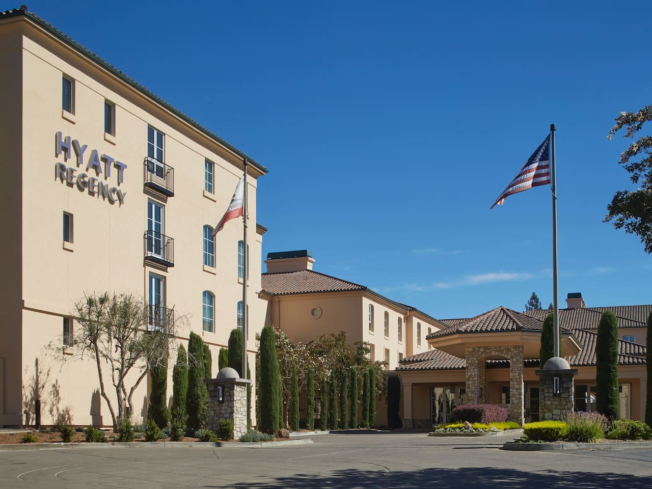 hyatt regency sonoma wine country hotel entrance