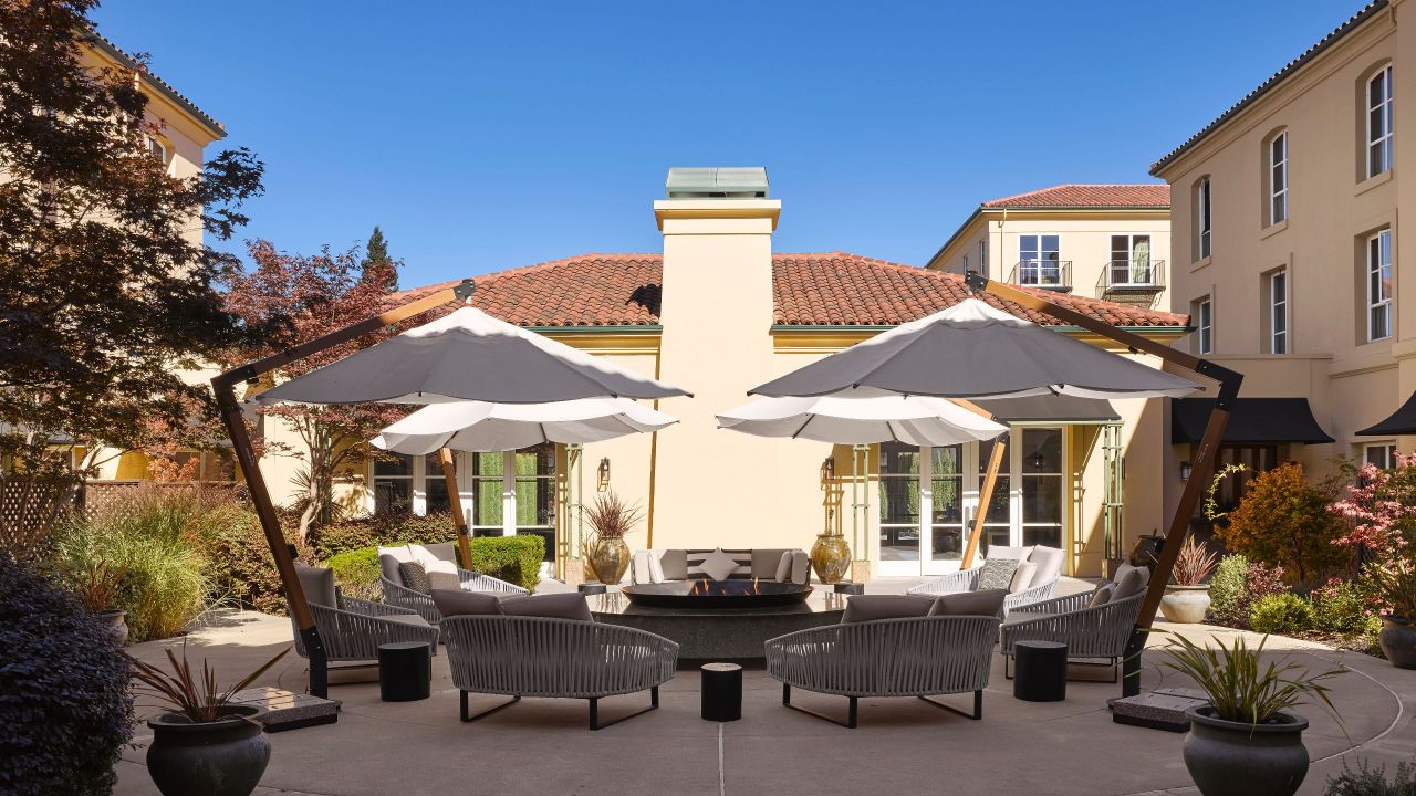 Outdoor Seating Area with Fire pit at Hyatt Regency Sonoma Wine Country