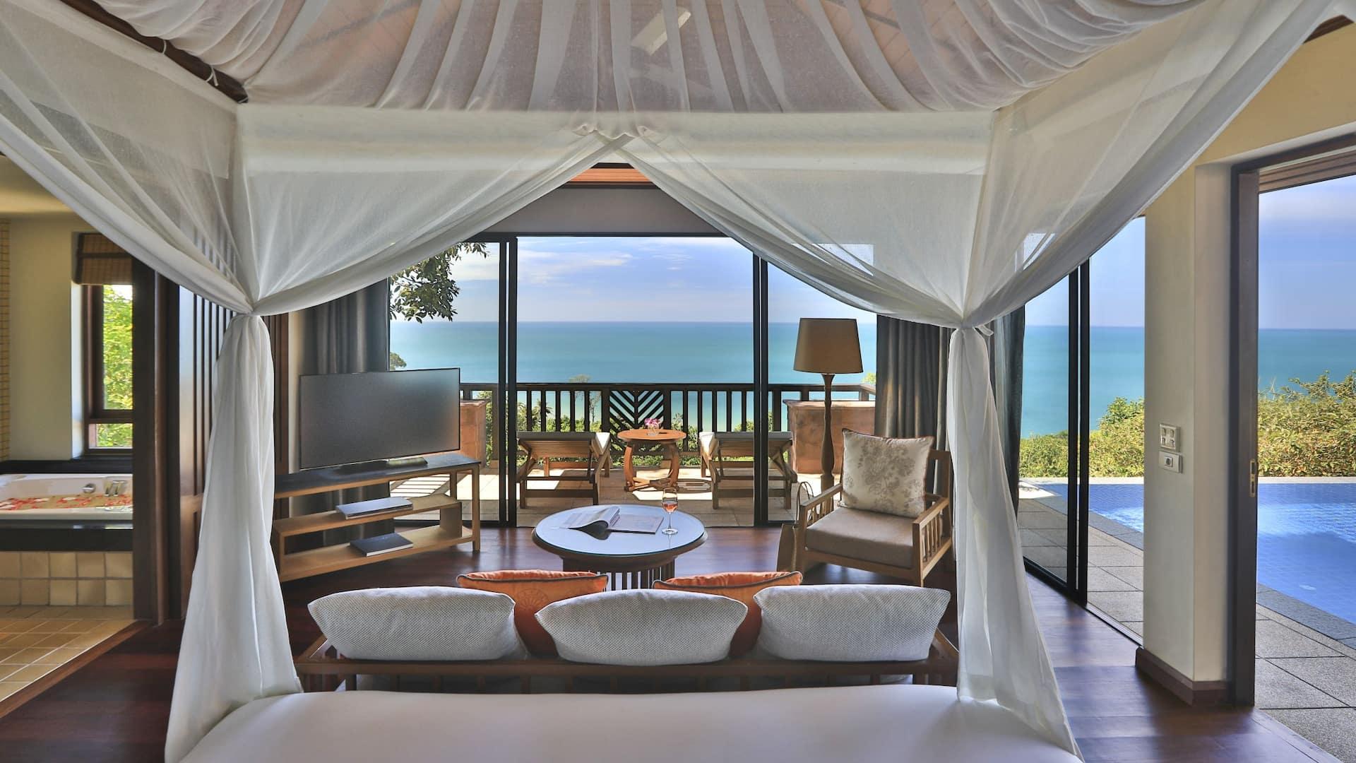 Hillside Ocean View Private Pool Villa One Bedroom