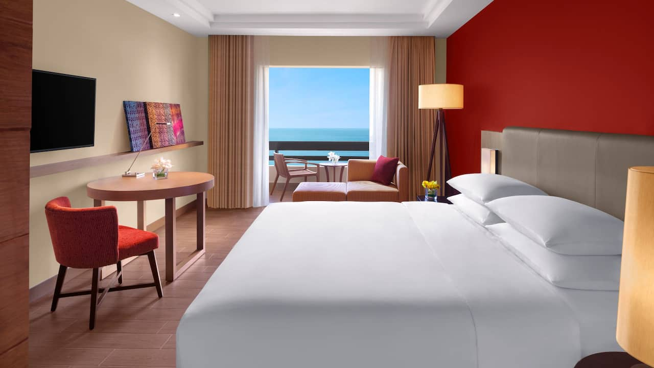 1 King Bed with Sea View Room at Hyatt Regency Kuantan, Malaysia