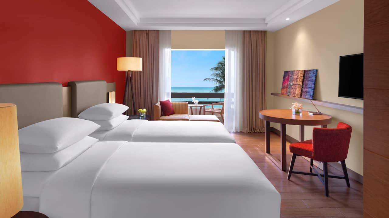 Sea View Twin Bed Room