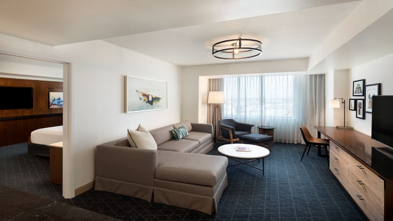 Large executive suite inside Grand Hyatt San Antonio