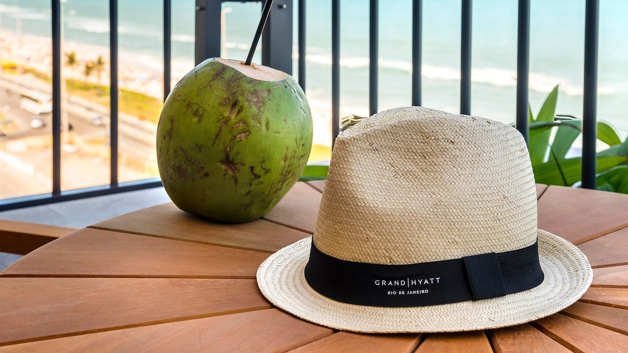 Balcony Panama Hat and Coconut