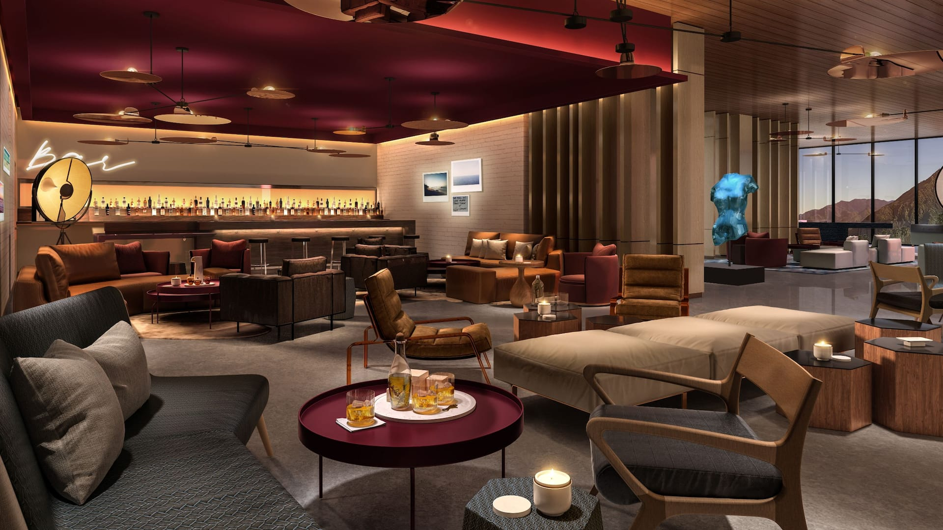 Andaz Palm Springs Bar Seating