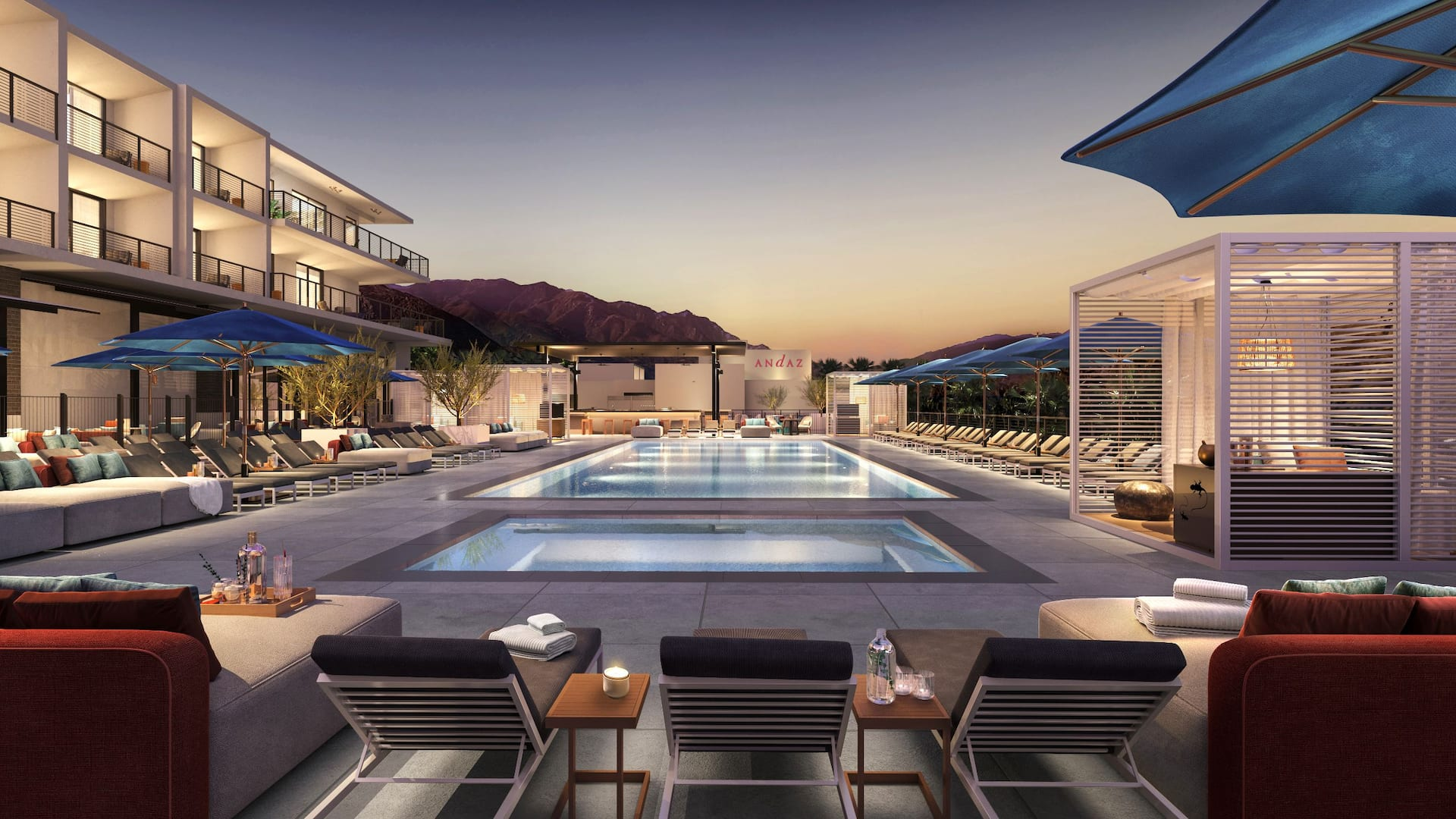 andaz palm springs outdoor swimming pool