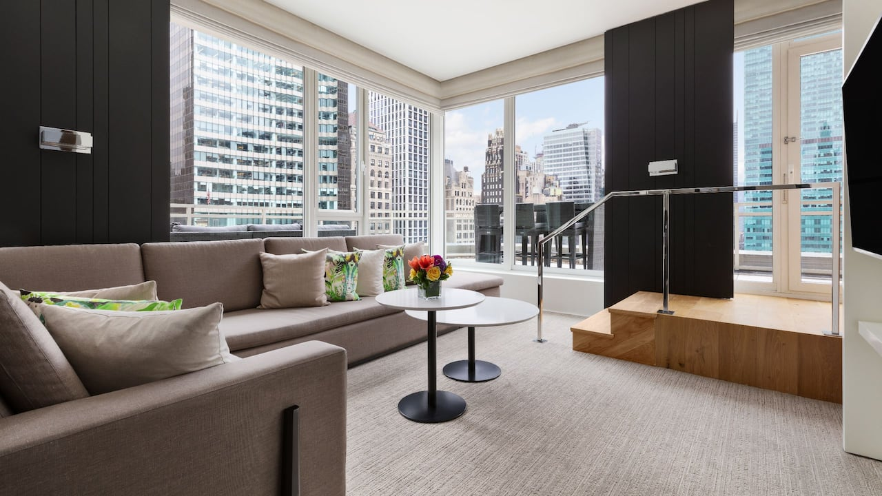 Suite Living Area Andaz 5th Avenue