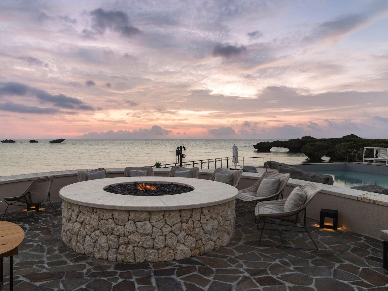 Hyatt Regency Seragaki Island Okinawa Firepit Terrace