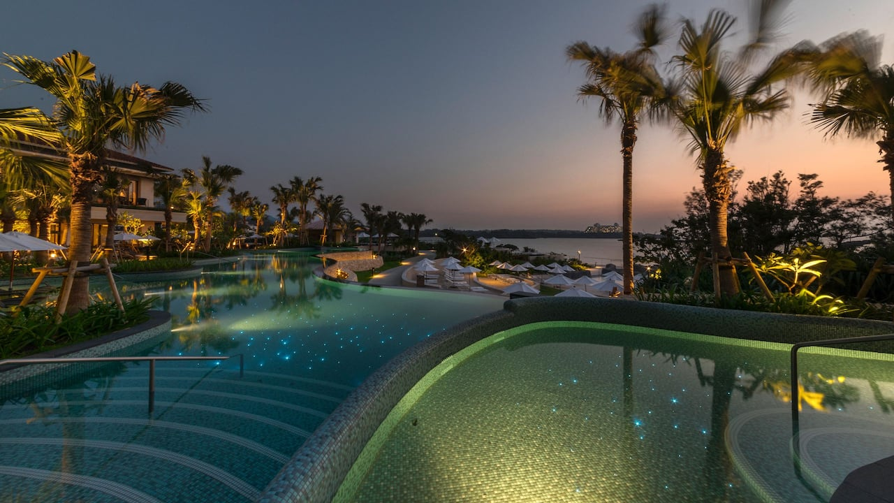 Hyatt Regency Seragaki Island Okinawa Pool-Night